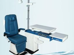 ophthalmic refraction chair unit with Hydraulic doctors stool